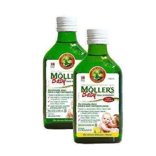 TRAN MOLLERS Baby Norwegian 250ml Infants from 6 months of age.