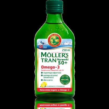 TRAN NORWEGIAN MOLLER'S 50+ lemon flavor 250ml osteoporosis treatment