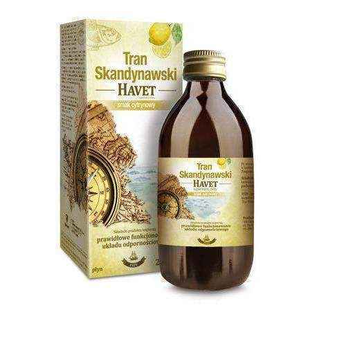 TRAN SCANDINAVIAN HAVET taste of lemon liquid 250ml fermented cod liver oil.