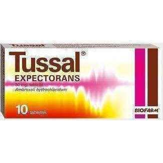 TUSSAL EXPECTORSANS x 10 tablets, coughing up mucus