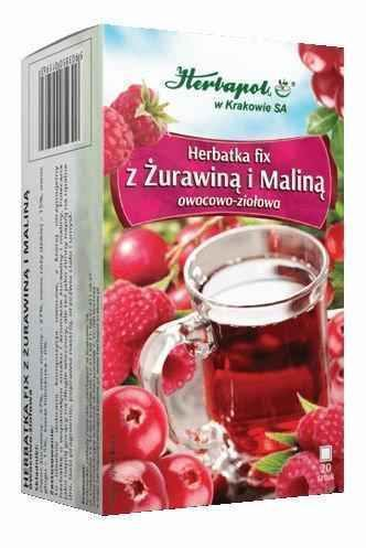 Tea with cranberry and raspberry x 20 sachets
