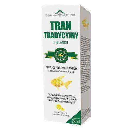 Tran traditional from Iceland 250ml, marine fish oil