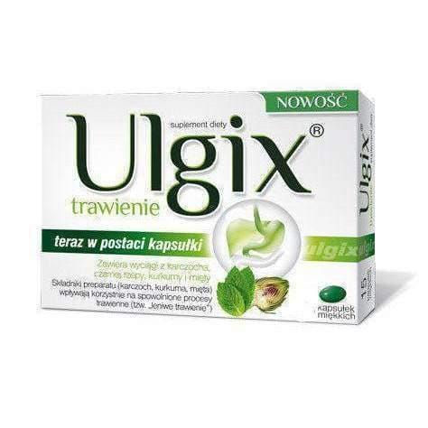 "ULGIX Digestion x 30 capsules  for slow digestion ""lazy digestion""."