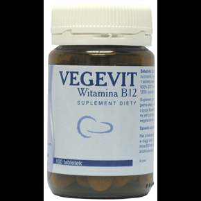 VEGEVIT Vitamin B12 x 100 tablets, b12 suplement