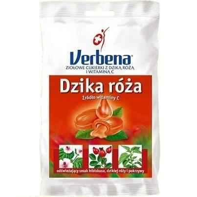 VERBENA Dzika Róż Herbal candies with Vitamin C 60g