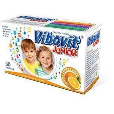 VIBOVIT Junior x 30 sachets - orange stimulate the immune system, support the work of the nervous system
