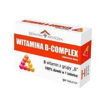 VITAMIN B COMPLEX x 50 tablets - nervous system, and energy metabolism of the body UK