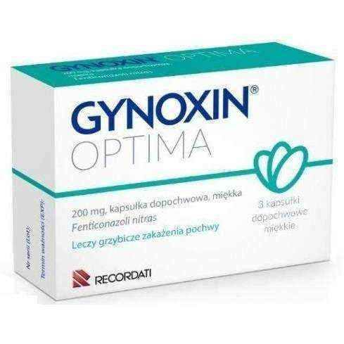 Vaginal yeast infection | Gynoxin Optima 0.2g x 3 vaginal capsules UK