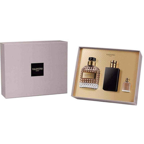 Valentino Uomo Gift Set 100ml EDT + 100ml Aftershave Balm + 4ml EDT