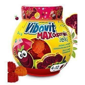 Vibovit Max immunity x 50 jellies full of vitamins for children 4years UK