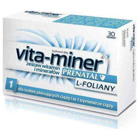 Vita-miner Prenatal L-folate x 30 tablets, pregnancy supplements.
