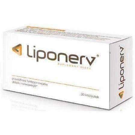 Vitamins for nervous system, Liponerv x 30 capsules