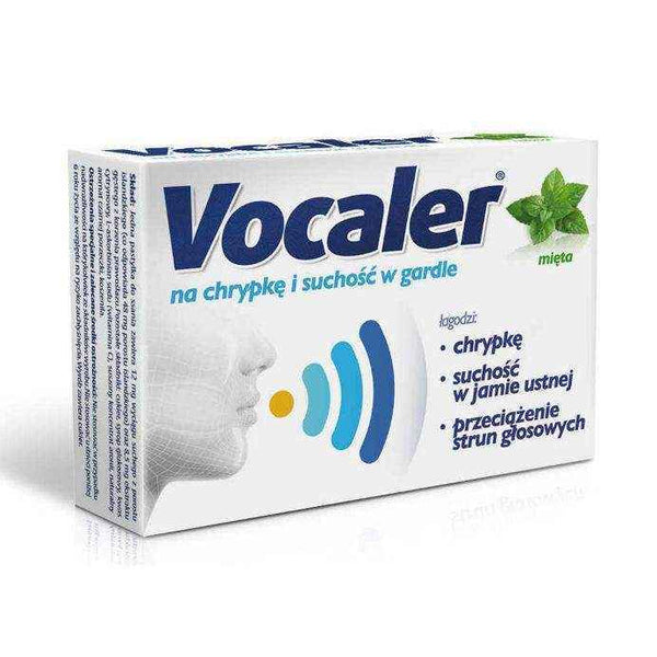 Vocaler x 12 mint lozenges, children over 6 years voice loss.