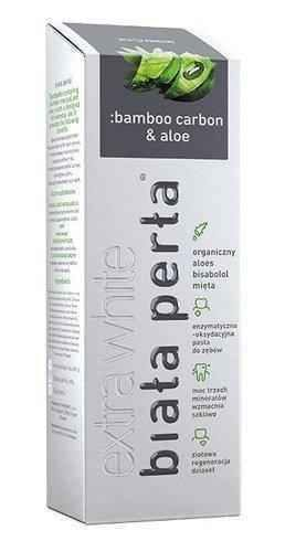 WHITE PEARL Bamboo carbon & aloe paste 75ml