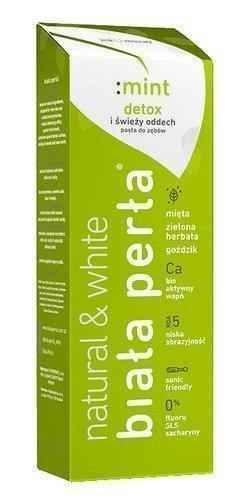 WHITE PEARL Natural mint paste 75ml