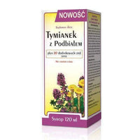 With Thyme Coltsfoot + 20 additional herbs syrup 120ml herbal medicine for cough.