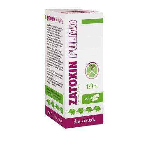 ZATOXIN Pulmo liquid 120ml for children aged 3+ immune system for kids.