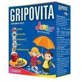 ZDROVIT Gripovita Junior x 10 sachets colds and flu 3+
