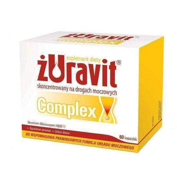 ŻURAVIT COMPLEX x 60 capsules, urinary tract infection in men