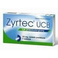 Zyrtec UCB N7 chronic and seasonal allergic rhinitis, allergic conjunctivitis, chronic idiopathic urticaria UK