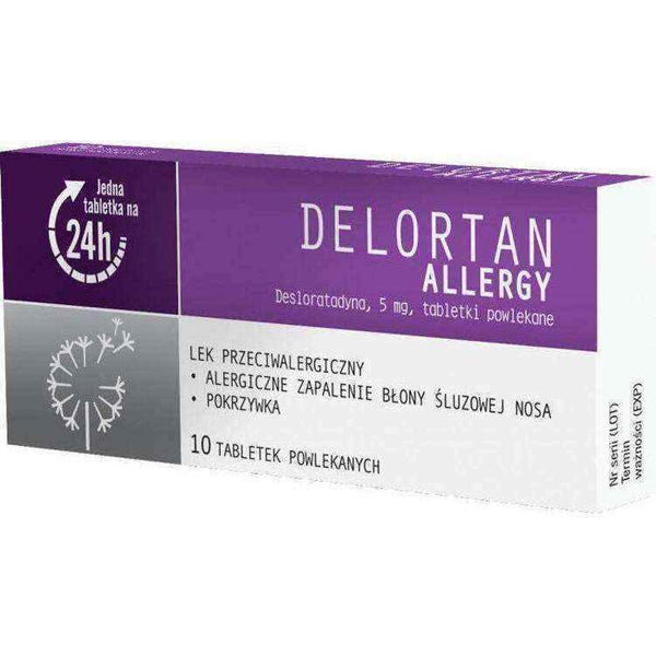 Allergy Delortan 5 mg x 10 pills UK