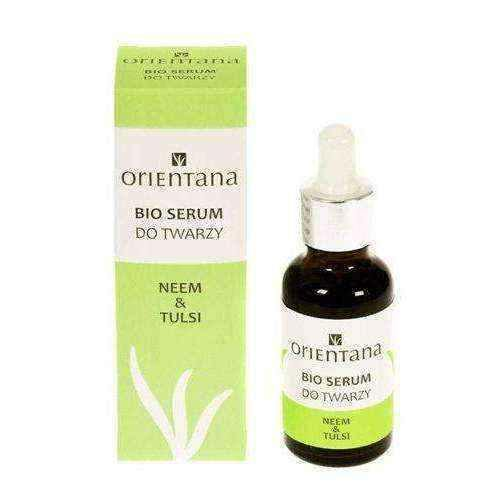 Face serum | ORIENTANA Bio Serum for face Neem and Tulsi 30ml.