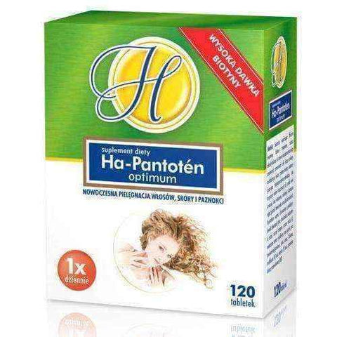 Hair skin and nails vitamins | Ha-Pantoten Optimum x 120 tablets