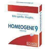 Homeogene 9 BOIRON N60 Sore throats Laryngitis Dysphonia Homeopathy, US, UK homeopathic remedies