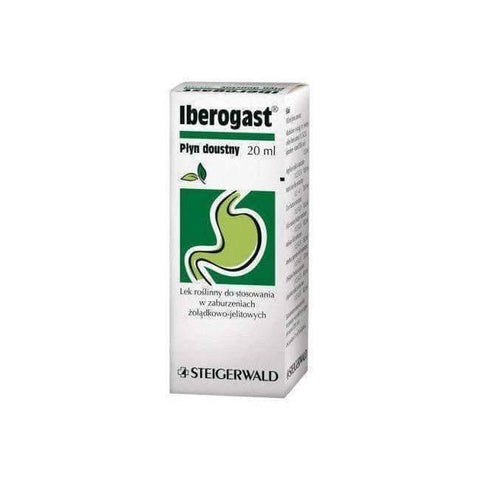 !IBEROGAST® 20ml Reduce IBS Heartburn Bloating Cramping Nausea Abdominal Pain Gas