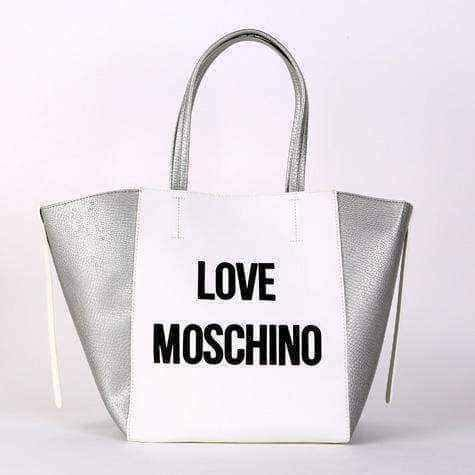 Moschino bags | Love Moschino White and Silver Shopper Handb