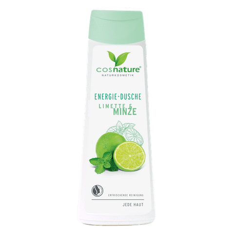 Natural energizing shower gel with lime and mint 250ml