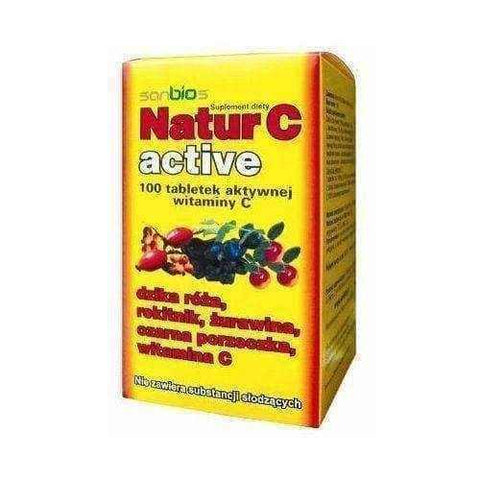 NATUR C ACTIVE 500mg x 100 tablets