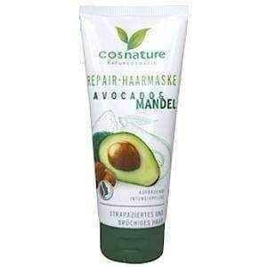 Natural regenerative hair mask with avocados and almonds 100ml