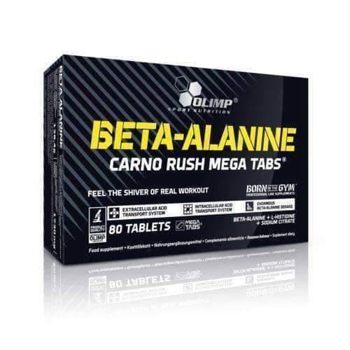 OLIMP BETA-ALANINE CARNO RUSH WITH L-HISTIDINE Mega Tabs 80 Amino Acid Formula UK
