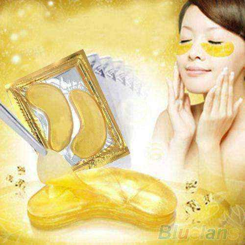 5 Packs Moisturizing Eye Patches Sheet Beauty Gold Crystal Collagen Eye Mask  4E1C
