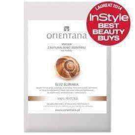 Snail face mask | ORIENTANA Face mask made of silk fabric Slime Snail x 1 piece