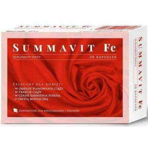 Summavit Fe x 30 capsules, vitamin b12 and iron