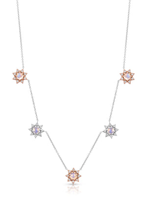 Mini Starburst Charm Necklace