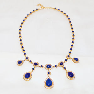 Scalloped Teardrop Statement Necklace
