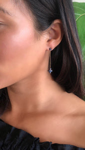 Cylinder Disco Drop Earring