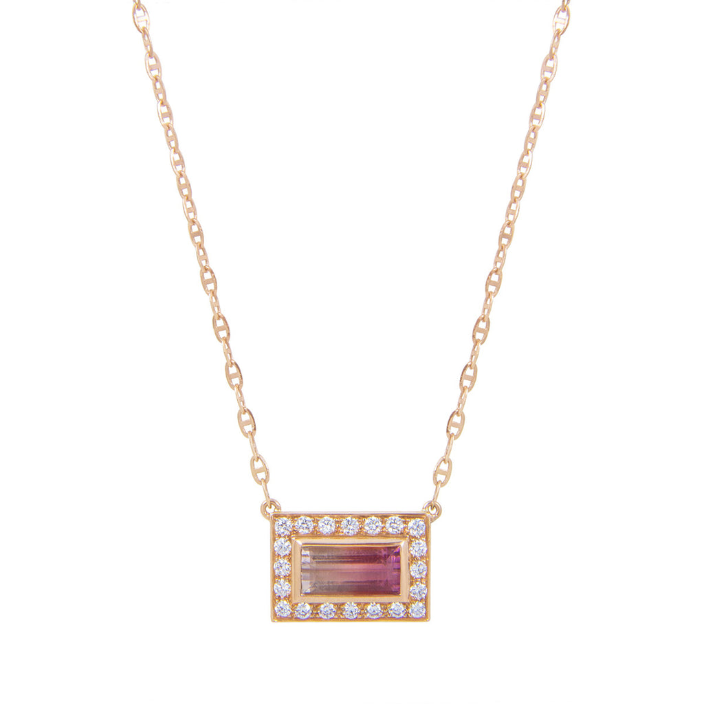 Mini Tourmaline Brick Necklace
