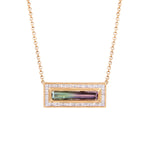 Tourmaline Brick Necklace