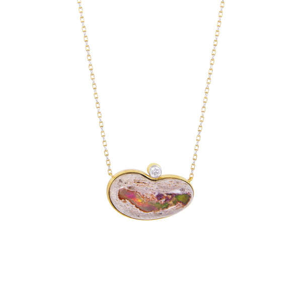 Opal Bean Necklace