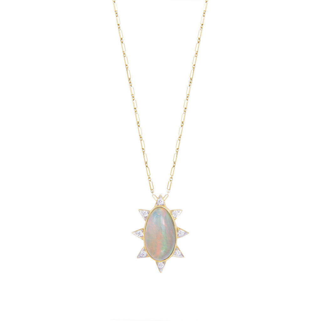 Oval Burst Necklace