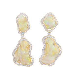 Tumbled Opal Gala Earrings
