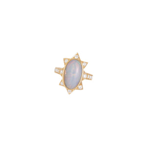 Oval Starburst Ring