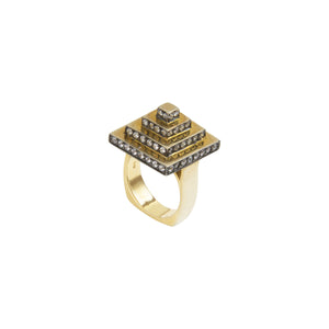 Square Pyramid Ring