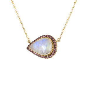 Moonstone East- West Necklace