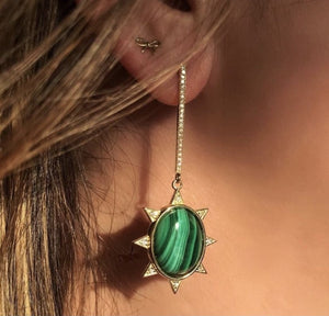 Malachite Starburst Earring