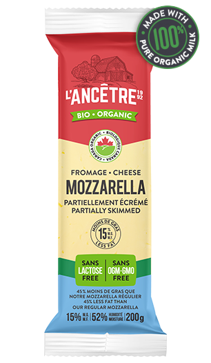 Organic Mozzarella Cheese [Partially Skimmed 15% M.F.] - BlossomPure Organic